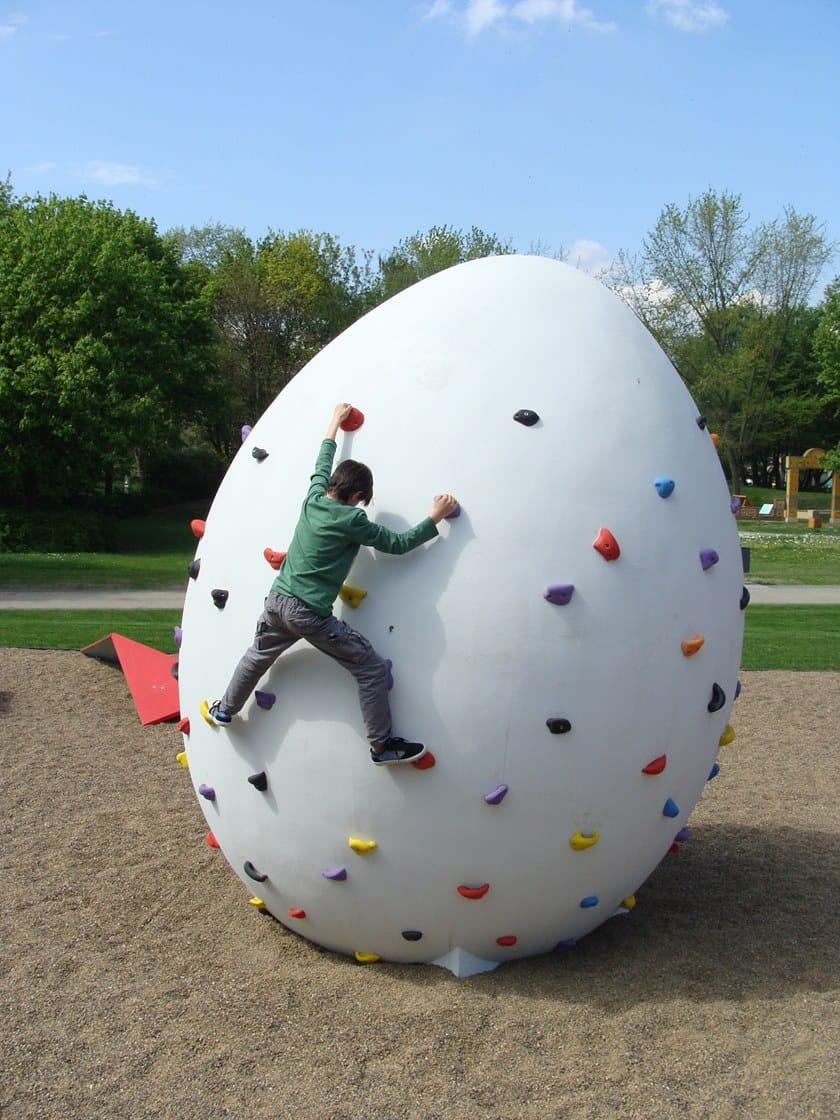 Concrete Rudolph climbing egg by concrete rudolph