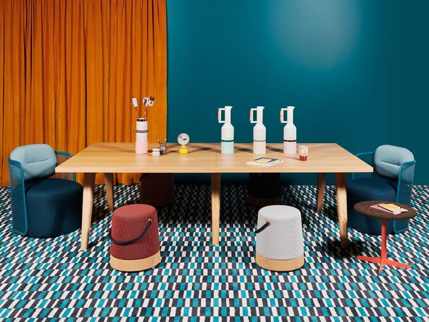 Modular meeting table CLINT by La Manufacture du Design