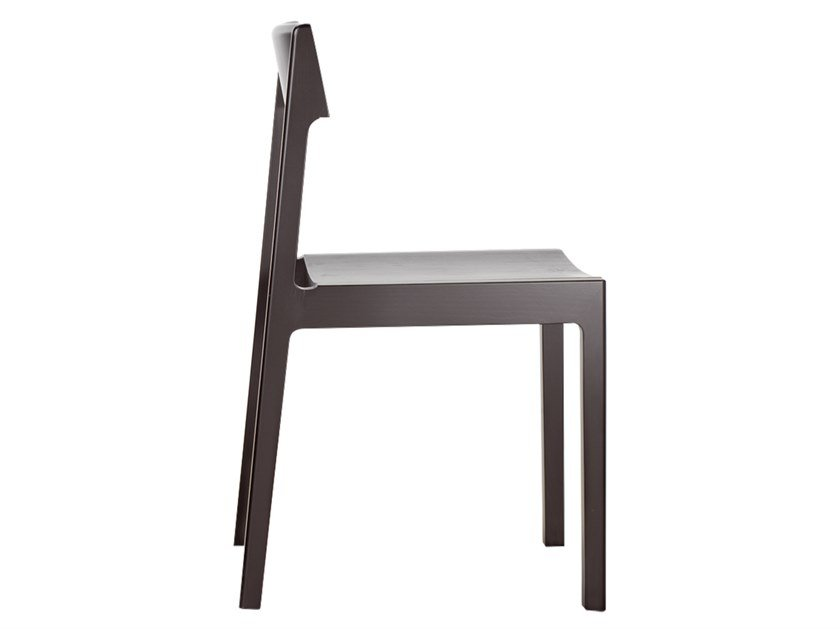 Open back ash chair CLIP by Bedont