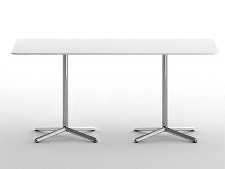 Rectangular table with 4-star base CLIVO 73 DOUBLE by arrmet