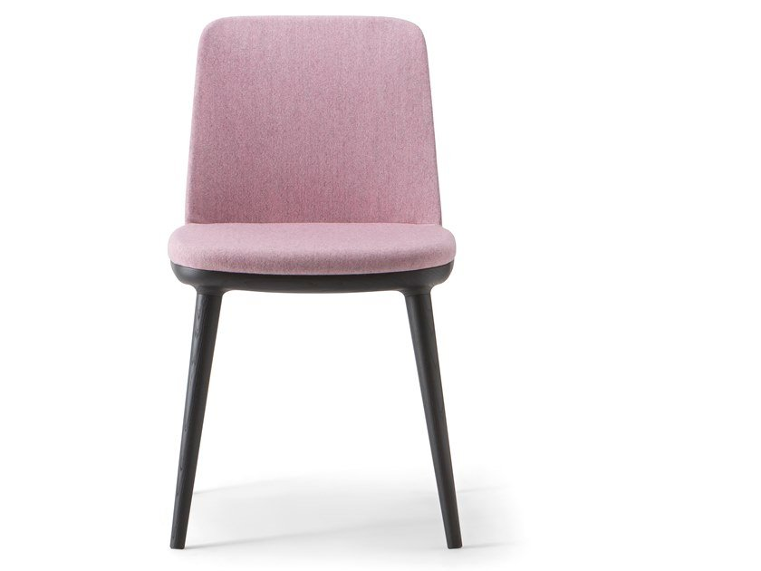 Upholstered fabric chair CLOE' CHAIR by Verti