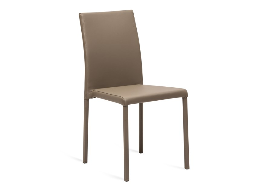 Stackable Eco-leather restaurant chair CLOE by La seggiola