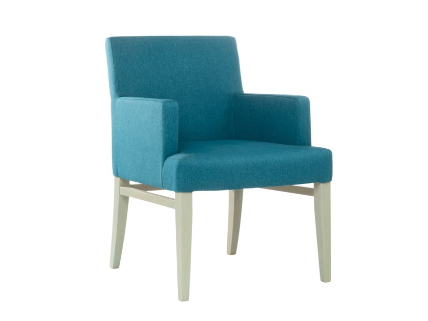 Upholstered fabric easy chair with armrests CLOE PO01 by New Life
