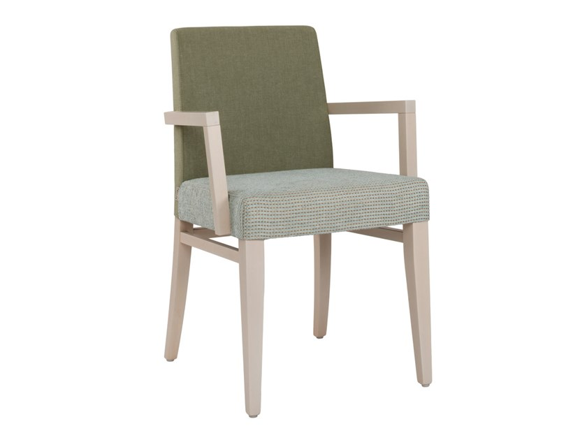 Upholstered fabric chair with armrests CLOE SB01 by New Life