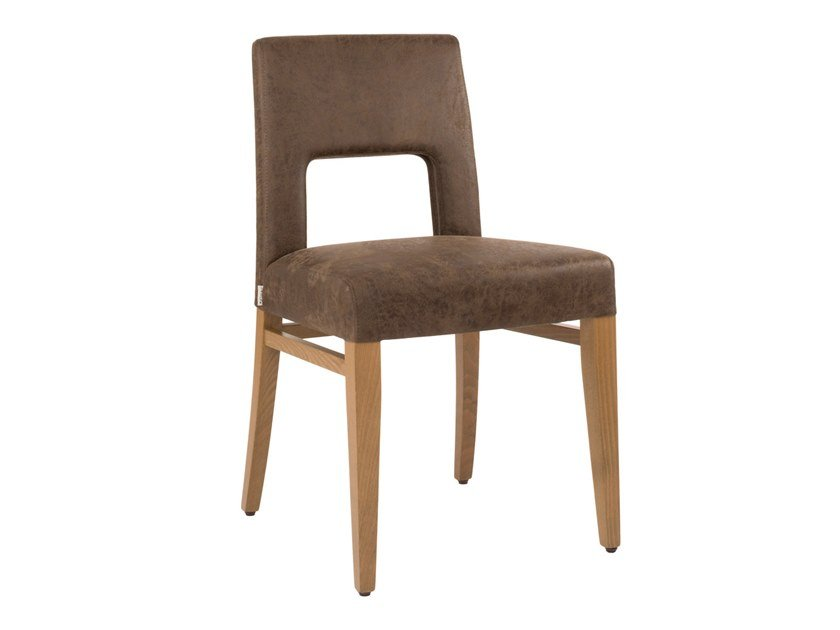 Upholstered open back fabric chair CLOE SE03 by New Life
