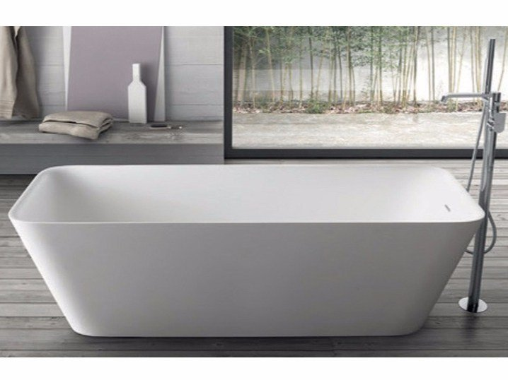 Freestanding rectangular bathtub CLOE SYSTEM | Rectangular bathtub by RAB Arredobagno