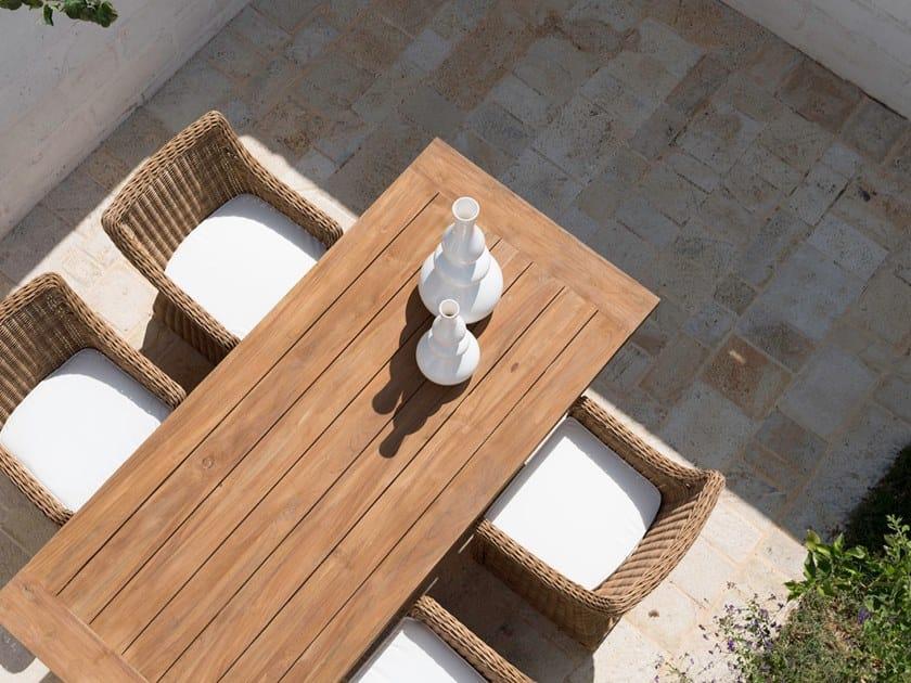 Rectangular wooden garden table CLOE | Wooden table by Braid
