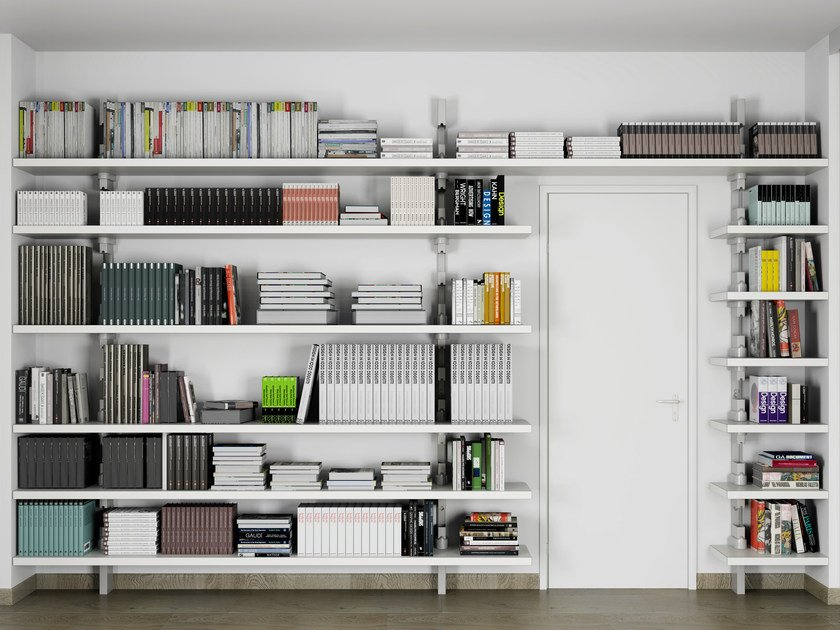 Open wall-mounted shelving unit CLOK by De Rosso