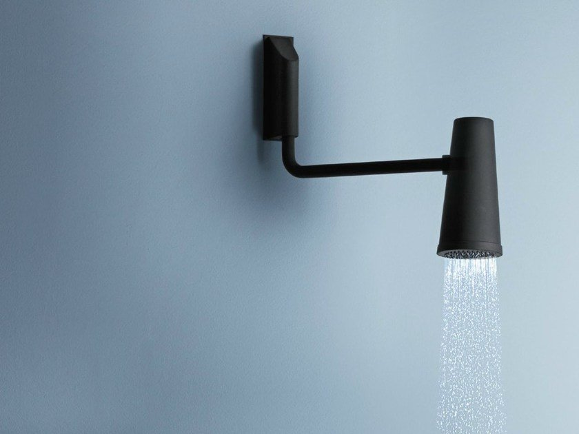 Wall-mounted adjustable overhead shower with arm CLOSER   Overhead shower with arm by ZUCCHETTI