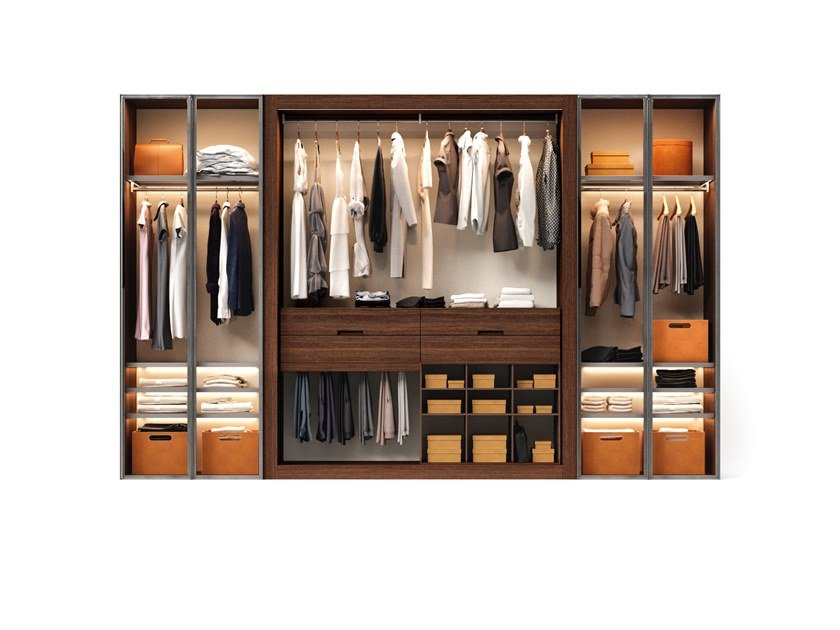 Sectional walk-in wardrobe CLOSET by ESTEL GROUP