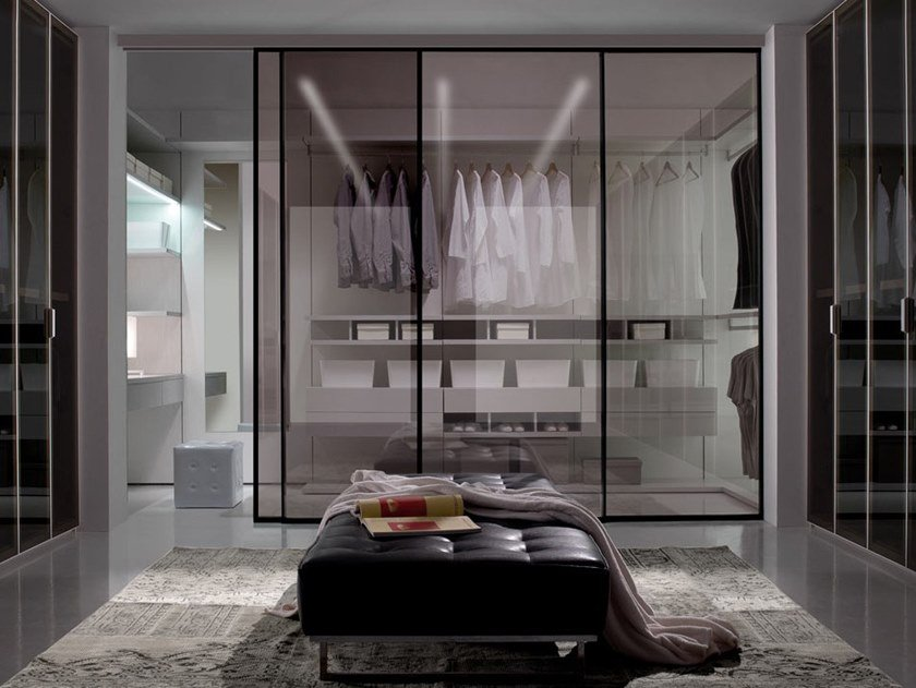 Sectional wooden walk-in wardrobe CLOSET by Kico