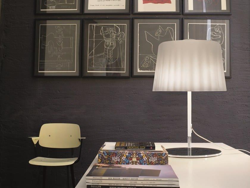 Blown glass table lamp CLOTH LT by Vetreria Vistosi