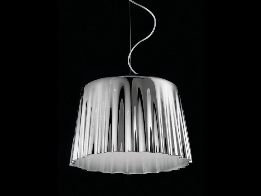 Blown glass pendant lamp CLOTH SP by Vetreria Vistosi