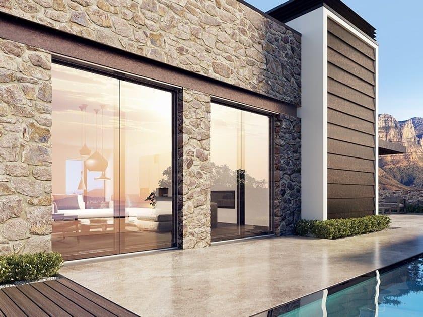 Aluminium And Wood Patio Door Cloud Glass Patio Door By Bg Legno