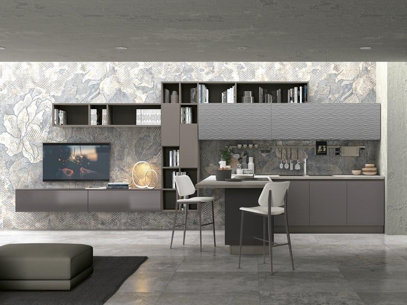Einbauküche mit Kücheninsel CLOVER LUX 1 Kollektion Clover ...