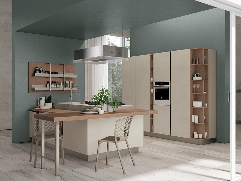 Fitted kitchen CLOVER LUX 2 by Cucine Lube