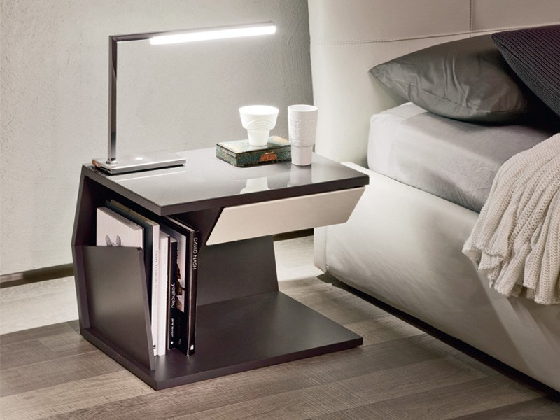 Lacquered bedside table with drawers CLUB by Cattelan Italia