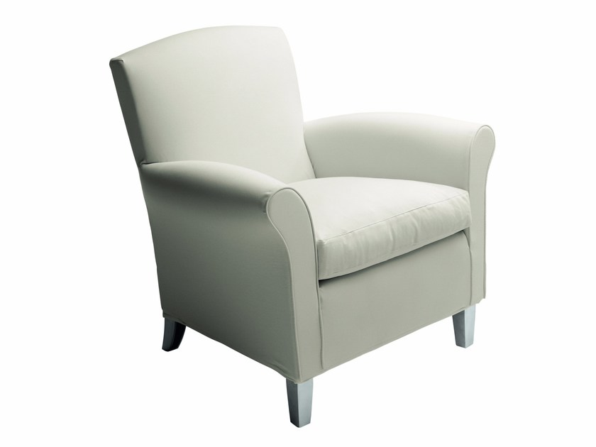 Club upholstered fabric armchair with armrests CLUB by DE PADOVA