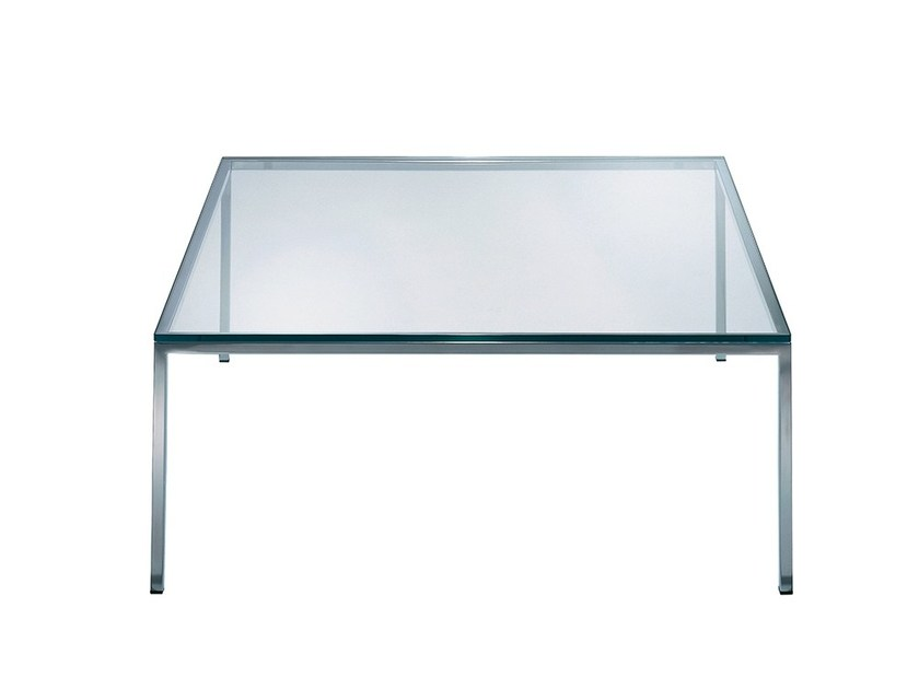 Square glass coffee table CLUB | Glass coffee table by Draenert