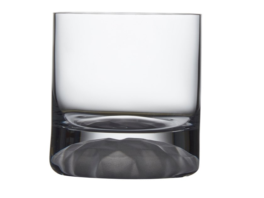 Set of 4 Whiskey Glasses with Frosted Ripple Effect CLUB ICE | Glass by NUDE