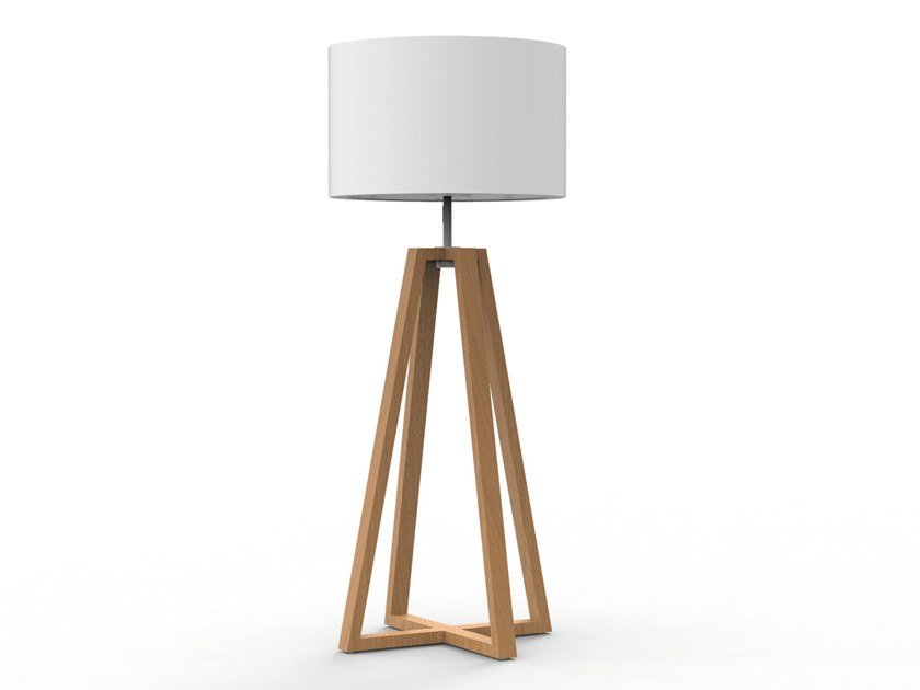 LED teak Floor lamp CLUB LOUNGE   Floor lamp by Royal Botania