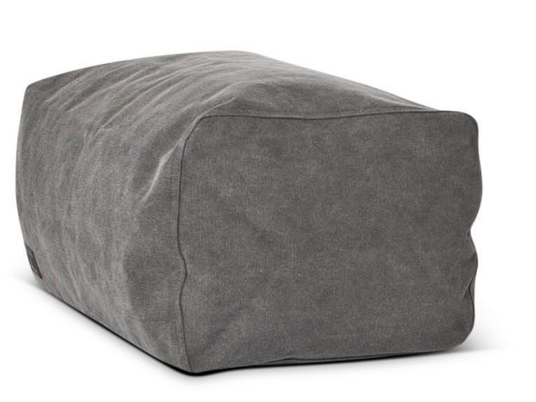 Upholstered rectangular canvas pouf CLUB   Pouf by NORR11