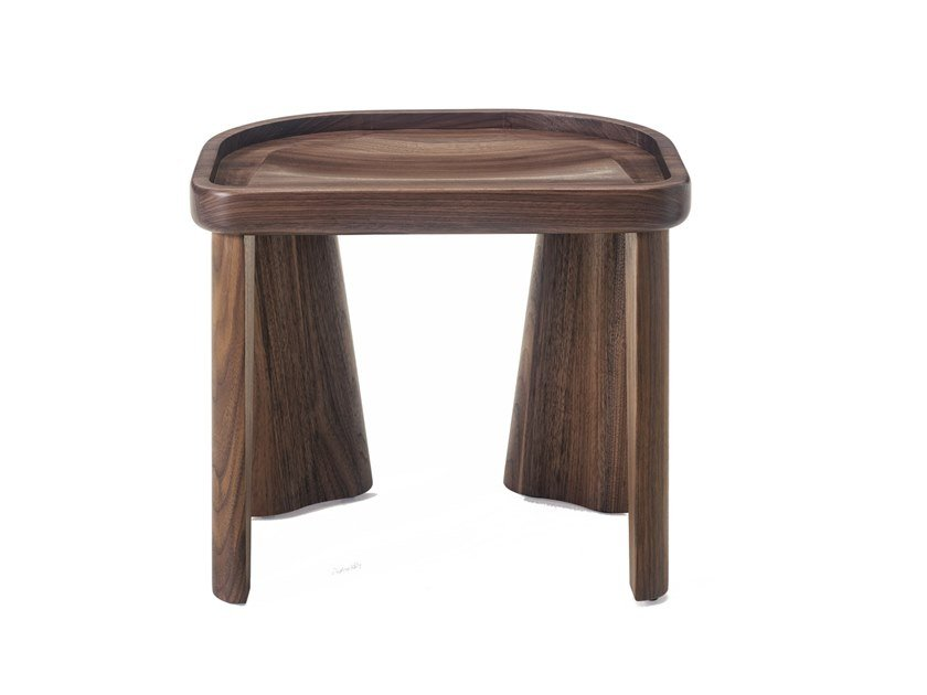 Stackable solid wood stool CLUSTER by BassamFellows