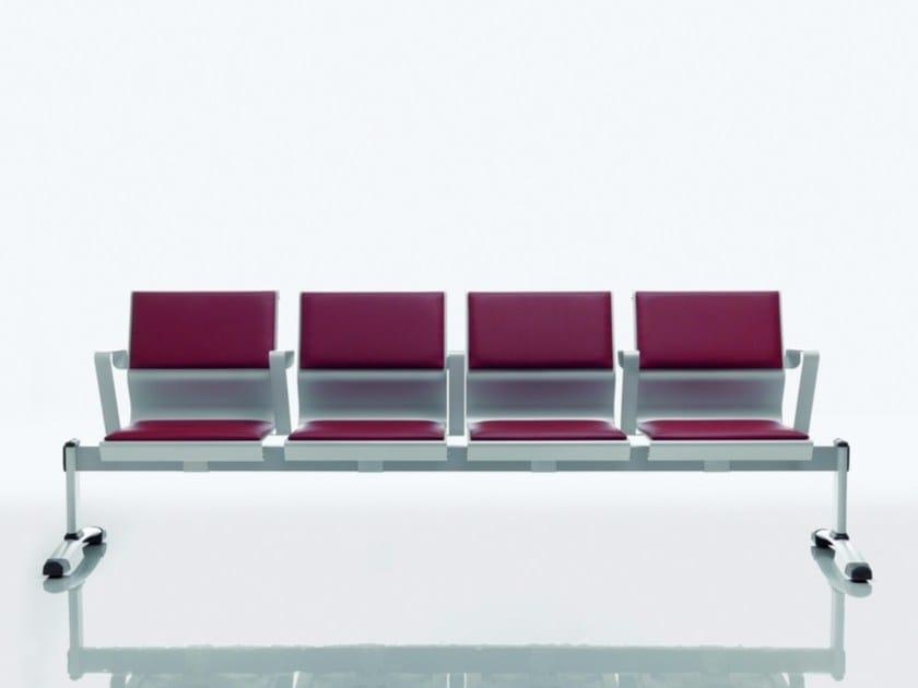 Steel beam seating CLUSTER by Quadrifoglio