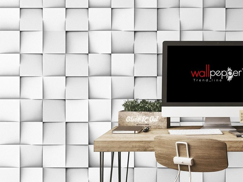 Industrial and modern wallpaper, PVC free, eco, washable CLUSTERS by Wallpepper