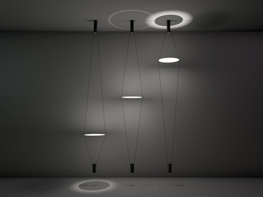LED direct light aluminium pendant lamp COASSIALE by Martinelli Luce