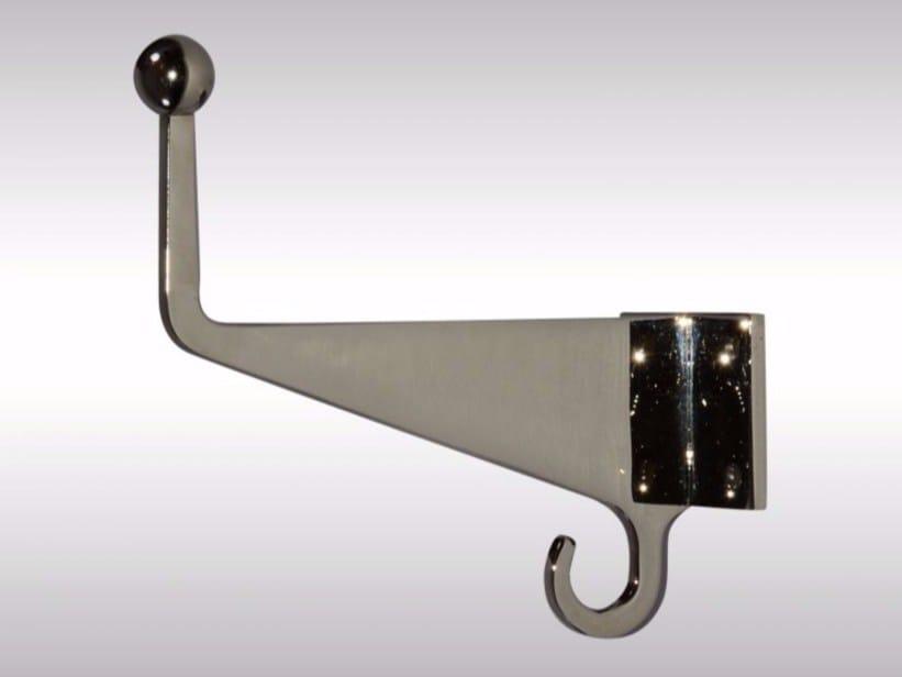 Wall-mounted brass coat rack COAT HOOK by Woka Lamps Vienna