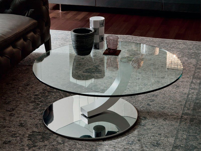 Round crystal coffee table COBRA by Cattelan Italia