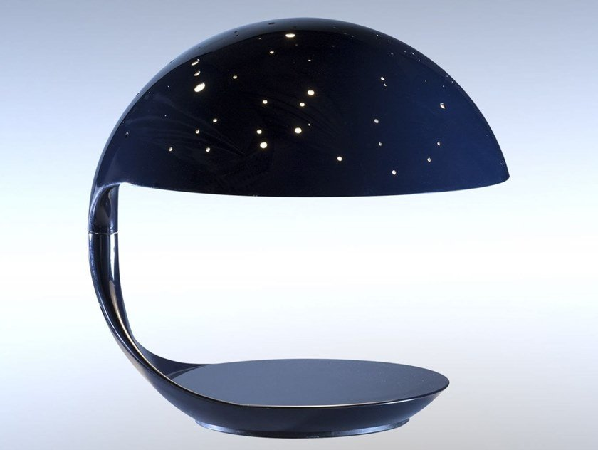 LED swivel resin table lamp COBRA SCORPIUS by Martinelli Luce