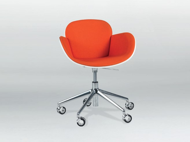 Swivel height-adjustable chair with casters COCCOLA DESK by Casprini