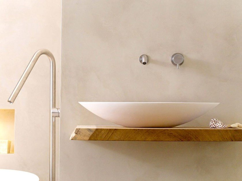 Countertop oval Solid Surface washbasin COCOON BOWL 2.1 by COCOON