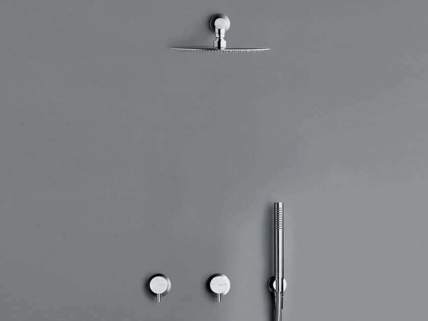 Shower mixer with overhead shower COCOON MONO SET20 by COCOON