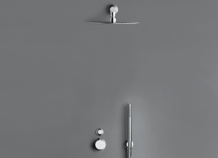 Shower mixer with overhead shower COCOON MONO SET21 by COCOON