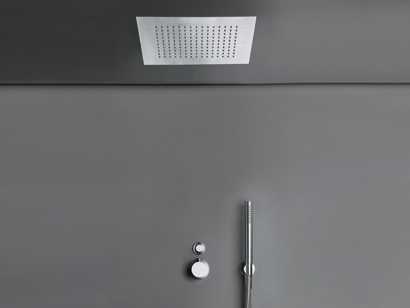 Thermostatic shower mixer with overhead shower COCOON MONO SET24 XL by COCOON
