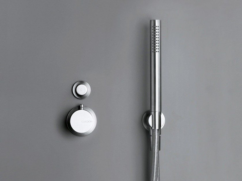 Stainless steel thermostatic shower/bath mixer COCOON MONO SET31 by COCOON