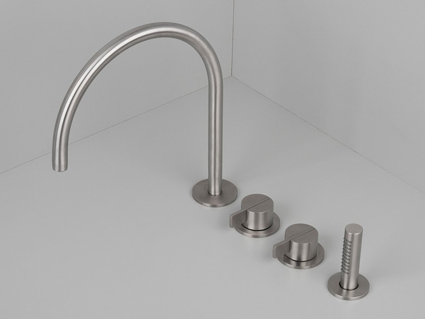 Stainless steel bathtub set with hand shower COCOON PB SET26 by COCOON