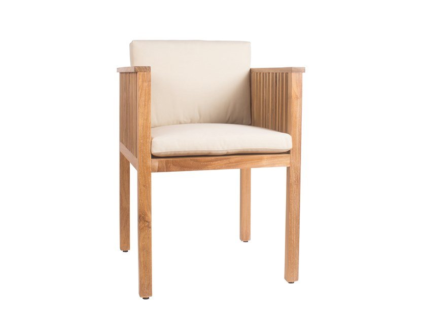 Teak garden chair with armrests CODE | Chair with armrests by Il Giardino di Legno