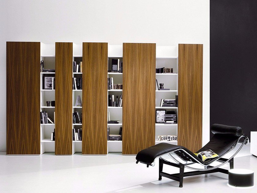 Sectional lacquered storage wall CODE by EmmeBi