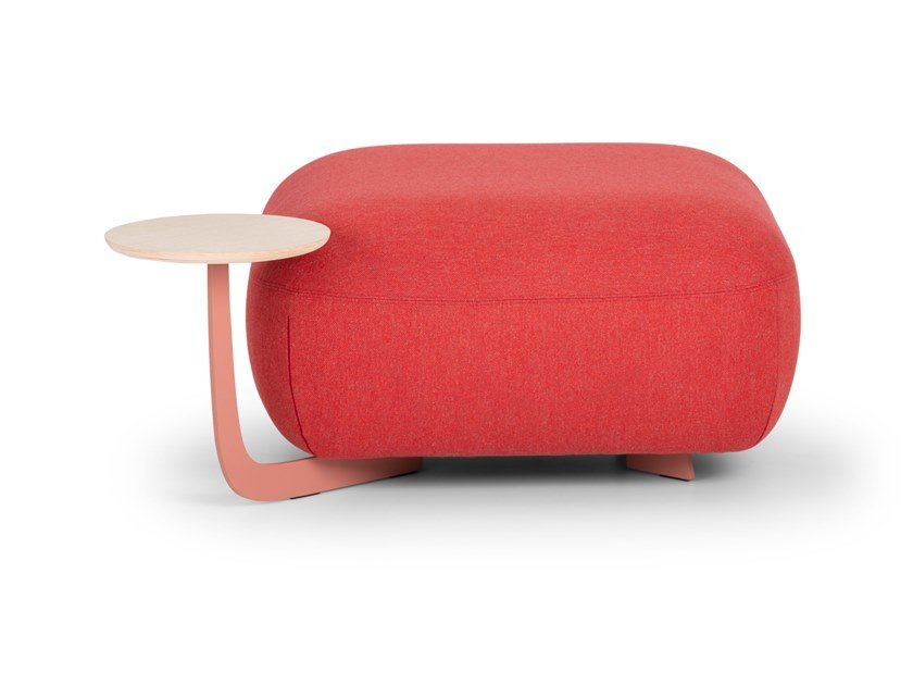Square pouf with integrated magazine rack CODE | Square pouf by True Design