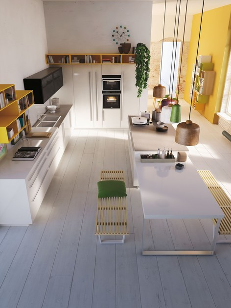 CODE | Kitchen with island SISTEMA Collection By Snaidero