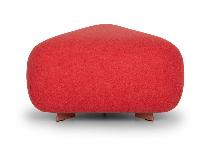Triangular upholstered pouf CODE   Pouf by True Design