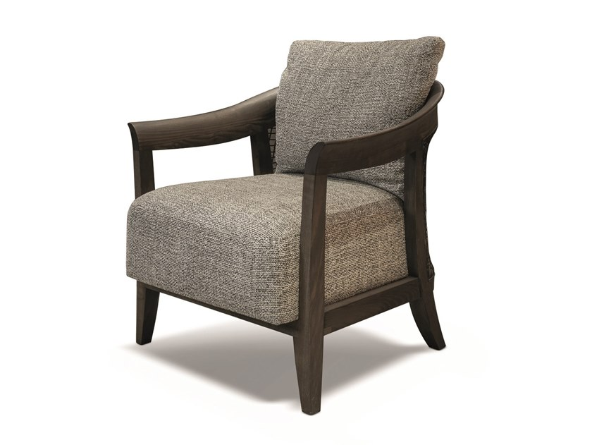 Fabric easy chair with armrests CODY | Fabric easy chair by Longhi