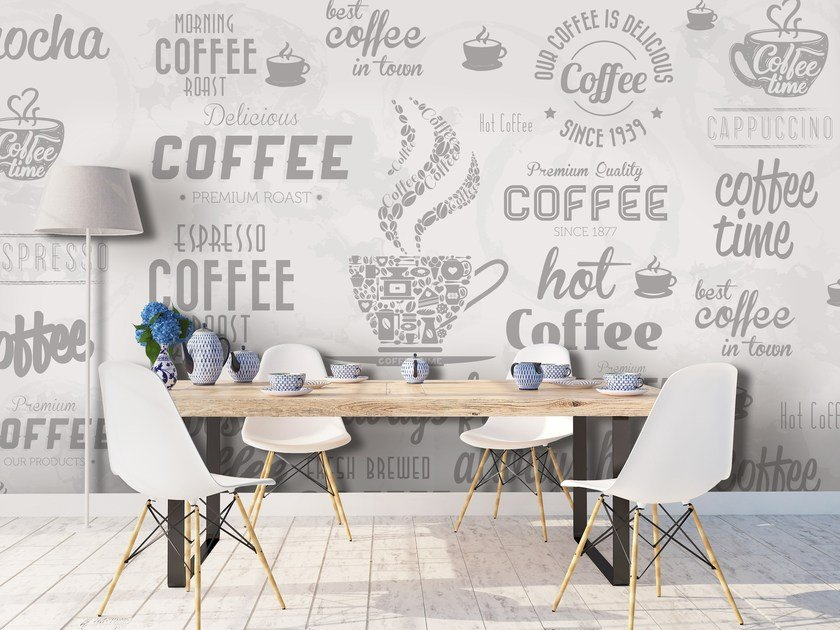 Adhesive washable writing wallpaper COFFEE by Wall LCA