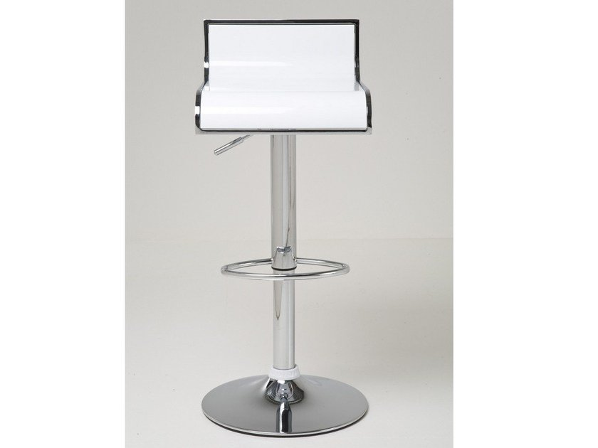 Metal stool with footrest COFFEESHOP WHITE by KARE-DESIGN