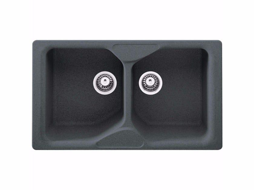 Lavello a 2 vasche da incasso in Fragranite® COG 620 by FRANKE