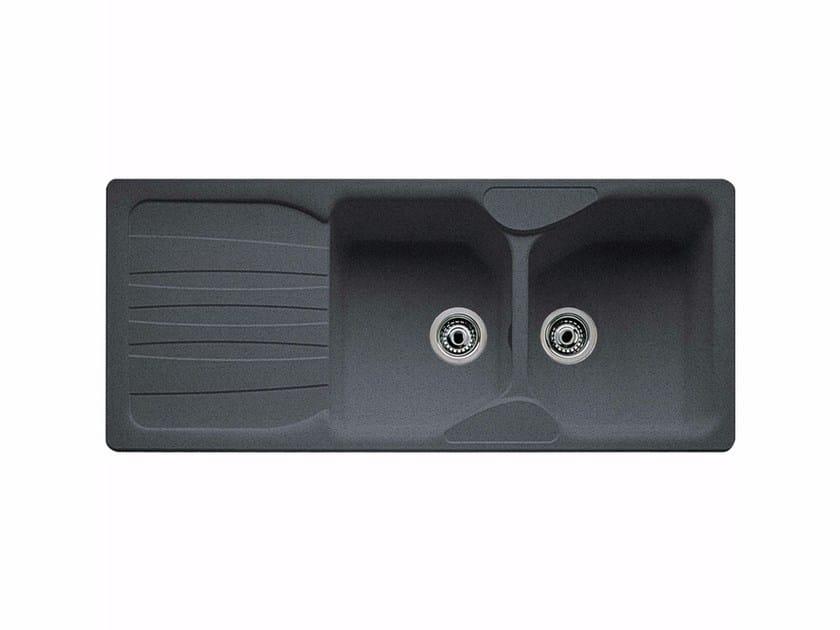 Lavello a 2 vasche da incasso in Fragranite® con sgocciolatoio COG 621 by FRANKE